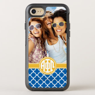 Alpha Phi Omega | Custom Monogram Pattern OtterBox Symmetry iPhone 8/7 Case