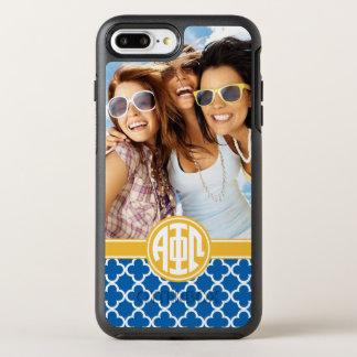 Alpha Phi Omega | Custom Monogram Pattern OtterBox Symmetry iPhone 8 Plus/7 Plus Case