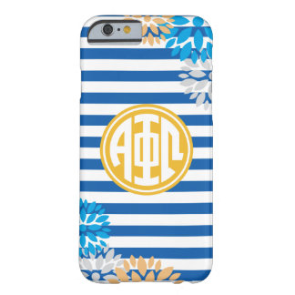 Alpha Phi Omega | Monogram Stripe Pattern Barely There iPhone 6 Case