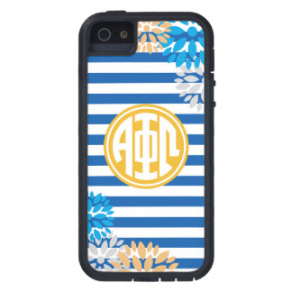Alpha Phi Omega | Monogram Stripe Pattern Case For The iPhone 5