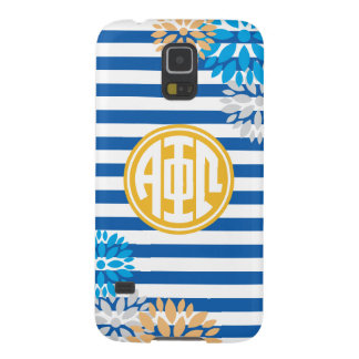 Alpha Phi Omega | Monogram Stripe Pattern Galaxy S5 Cover