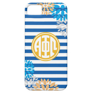 Alpha Phi Omega | Monogram Stripe Pattern iPhone 5 Case