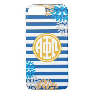 Alpha Phi Omega | Monogram Stripe Pattern iPhone 8/7 Case
