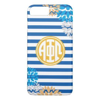 Alpha Phi Omega | Monogram Stripe Pattern iPhone 8 Plus/7 Plus Case