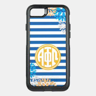Alpha Phi Omega | Monogram Stripe Pattern OtterBox Commuter iPhone 8/7 Case
