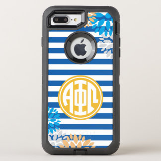 Alpha Phi Omega | Monogram Stripe Pattern OtterBox Defender iPhone 7 Plus Case