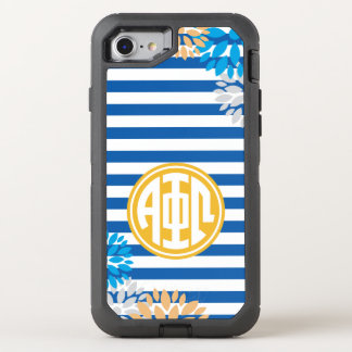 Alpha Phi Omega | Monogram Stripe Pattern OtterBox Defender iPhone 8/7 Case