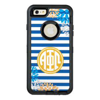 Alpha Phi Omega | Monogram Stripe Pattern OtterBox Defender iPhone Case