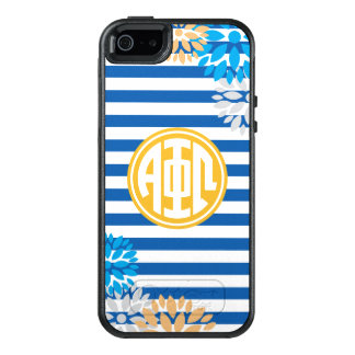 Alpha Phi Omega | Monogram Stripe Pattern OtterBox iPhone 5/5s/SE Case