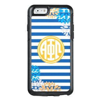 Alpha Phi Omega | Monogram Stripe Pattern OtterBox iPhone 6/6s Case