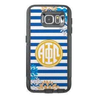 Alpha Phi Omega | Monogram Stripe Pattern OtterBox Samsung Galaxy S6 Case