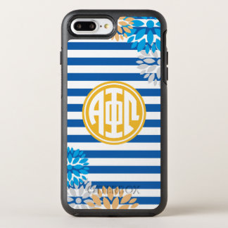 Alpha Phi Omega | Monogram Stripe Pattern OtterBox Symmetry iPhone 7 Plus Case
