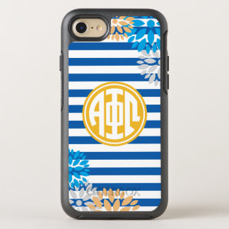 Alpha Phi Omega | Monogram Stripe Pattern OtterBox Symmetry iPhone 8/7 Case