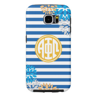 Alpha Phi Omega | Monogram Stripe Pattern Samsung Galaxy S6 Cases