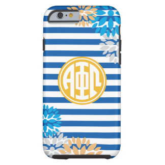 Alpha Phi Omega | Monogram Stripe Pattern Tough iPhone 6 Case