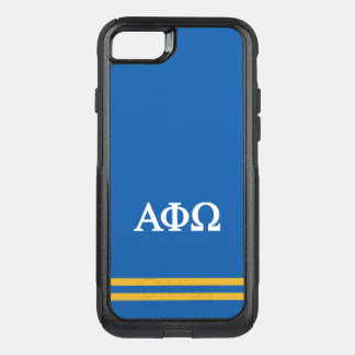 Alpha Phi Omega | Sport Stripe OtterBox Commuter iPhone 8/7 Case