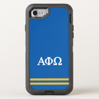 Alpha Phi Omega | Sport Stripe OtterBox Defender iPhone 8/7 Case