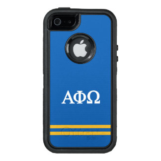 Alpha Phi Omega | Sport Stripe OtterBox Defender iPhone Case