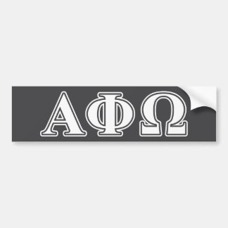 Alpha Phi Omega White and Blue Letters Bumper Sticker