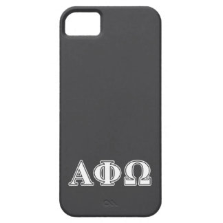 Alpha Phi Omega White and Blue Letters iPhone 5 Cases