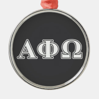 Alpha Phi Omega White and Blue Letters Christmas Ornament
