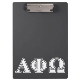 Alpha Phi Omega White and Blue Letters Clipboard