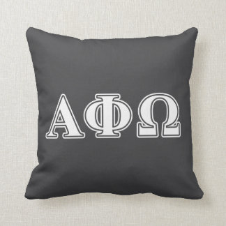 Alpha Phi Omega White and Blue Letters Cushion