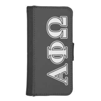 Alpha Phi Omega White and Blue Letters Phone Wallet
