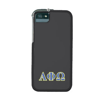 Alpha Phi Omega Yellow and Blue Letters iPhone 5/5S Case