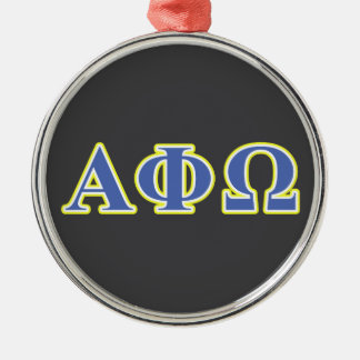 Alpha Phi Omega Yellow and Blue Letters Christmas Ornament