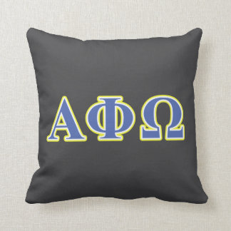 Alpha Phi Omega Yellow and Blue Letters Cushion