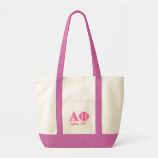Alpha Phi Pink Letters Bags