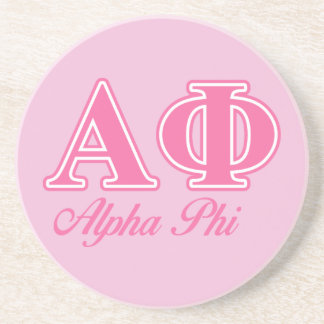 Alpha Phi Pink Letters Coaster