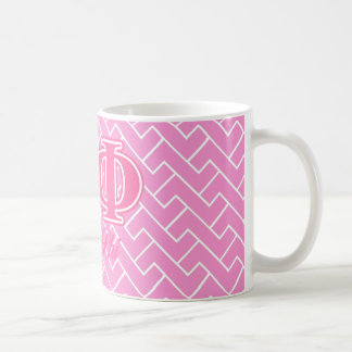 Alpha Phi Pink Letters Coffee Mug