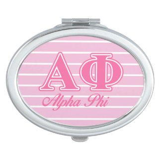 Alpha Phi Pink Letters Compact Mirrors