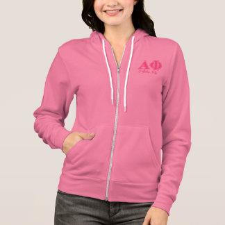 Alpha Phi Pink Letters Hoodie
