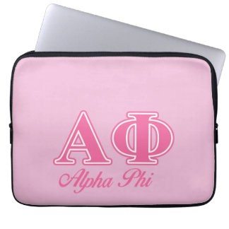 Alpha Phi Pink Letters Laptop Sleeve