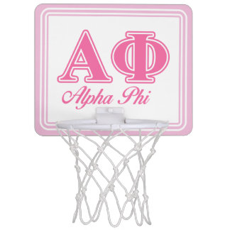 Alpha Phi Pink Letters Mini Basketball Hoop