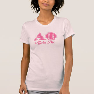 Alpha Phi Pink Letters T-Shirt