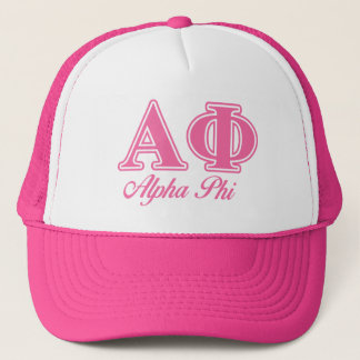 Alpha Phi Pink Letters Trucker Hat