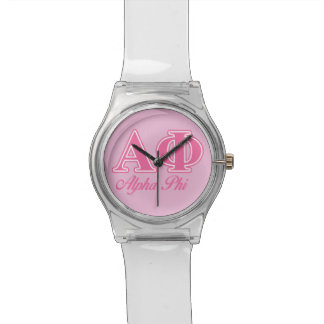 Alpha Phi Pink Letters Watch