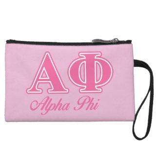 Alpha Phi Pink Letters Wristlet Purse