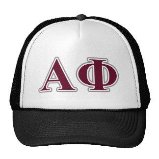 Alpha Phi Silver and Bordeaux Letters Cap