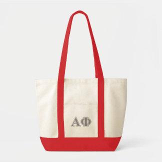 Alpha Phi Silver Letters Impulse Tote Bag