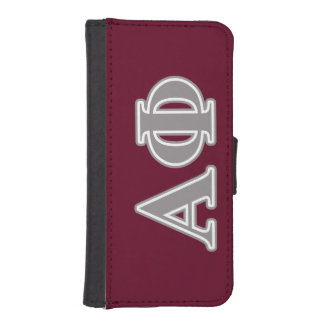 Alpha Phi Silver Letters iPhone SE/5/5s Wallet Case