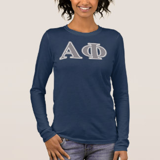 Alpha Phi Silver Letters Long Sleeve T-Shirt
