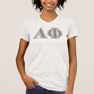Alpha Phi Silver Letters T-Shirt