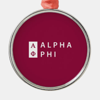 Alpha Phi | Stacked Christmas Ornament
