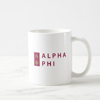 Alpha Phi | Stacked Coffee Mug
