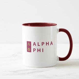 Alpha Phi | Stacked Mug